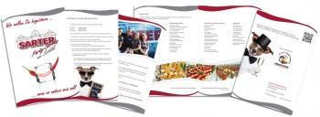 Unser Print-Service, eine Broschüre für Sarter Partyservice e.K.