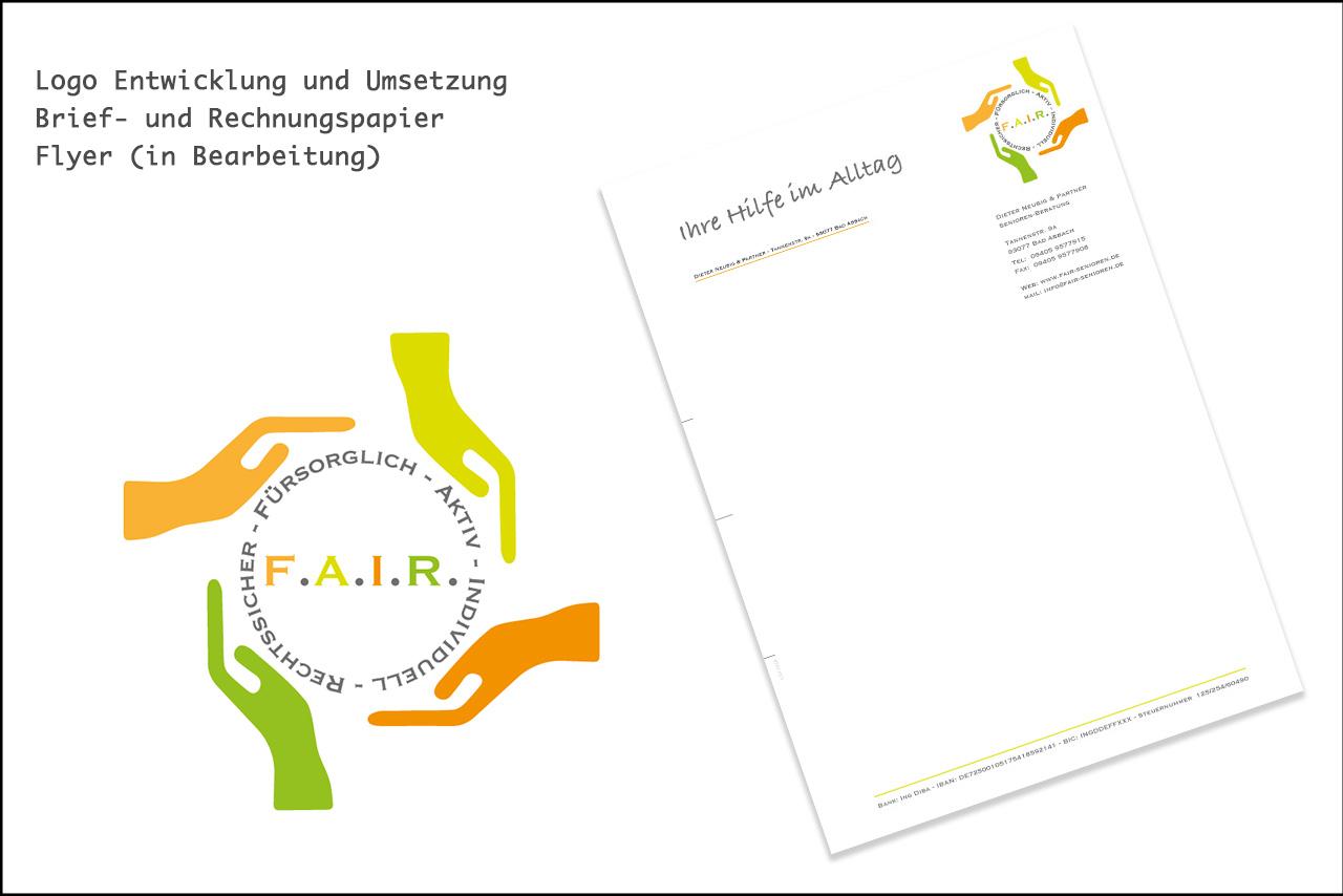 Logo Entwicklung für die F.A.I.R. Seniorenberatung