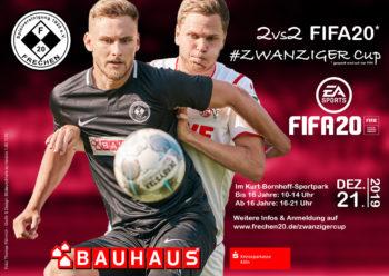 Plakat für den FIFA20 Cup von Frechen 20