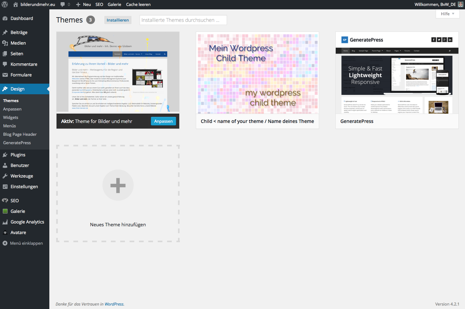 Wordpress - Child Theme anlegen