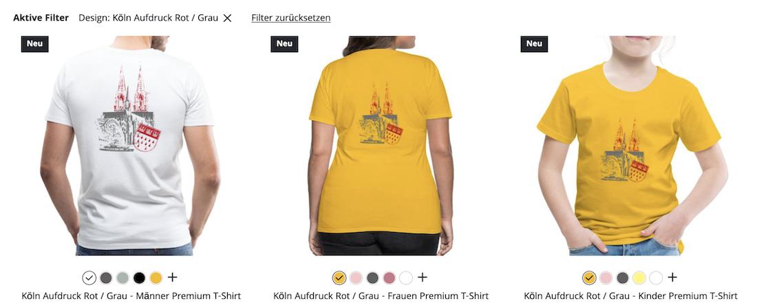 Exklusive Köln Shirts