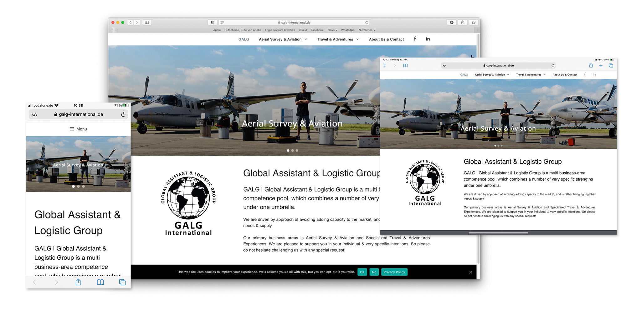 Responsive Website der GALG | Global Assistant & Logistic Group