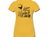 T-Shirt mit exklusivem Druck auf dem Rücken